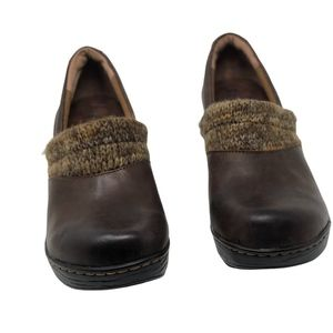 BOC Born Shoes Brown Clogs Leather Size 8 New
